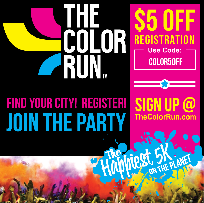 Color run coupon code 2018