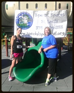 Me & Lacy Gambill (race director & co-director at Special Spaces.