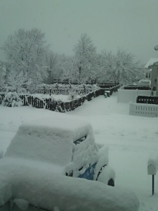 This is what I woke up to Saturday morning...Yikes!!!